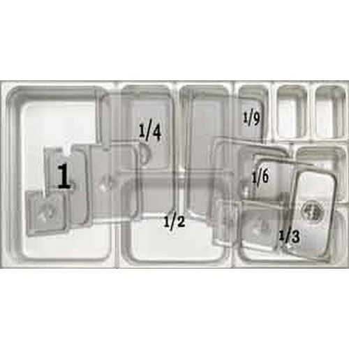 UPDATE STP-25LDC Solid Cover Stainless Food Pans