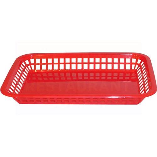 "Tablecraft 1079R Red Food Basket 10.5"" x 7"""