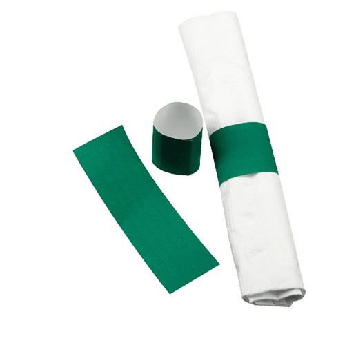 """Paper Napkin Band 1.5"""" X 4.5"""" Green"""