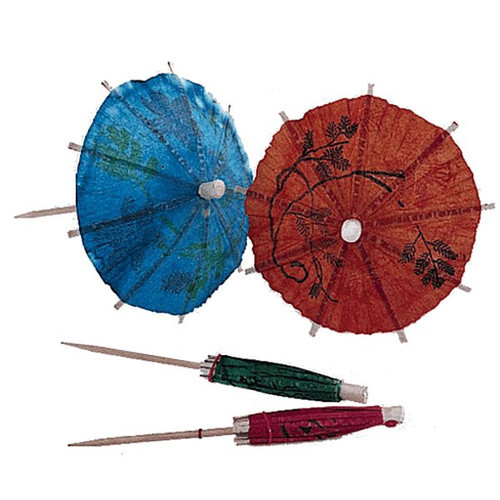 "UPDATE PC-PAR 4"" Wooden Cocktail Parasol Toothpick"