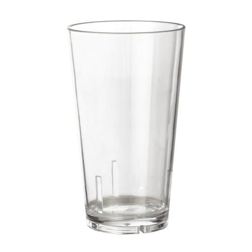 GET S-16-1-CL 16 Oz Shaker Glass Plastic Tumbler