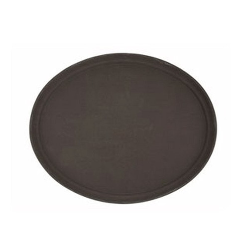 WINCO TRH-14 14 Inch Easy Hold Round Tray, Brown