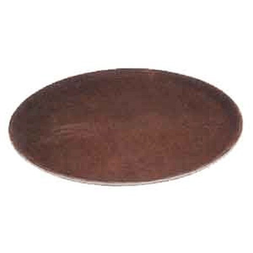 "WINCO TRH-2722 22"" x 27"" Oval Tray Easy Hold Brown"