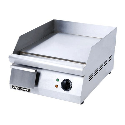 Adcraft GRID-16 120V Heavy Duty Electric Countertop Griddle All Stainless Steel