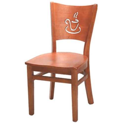 H&D 8236 Coffee Cup Cut Out Back Chair