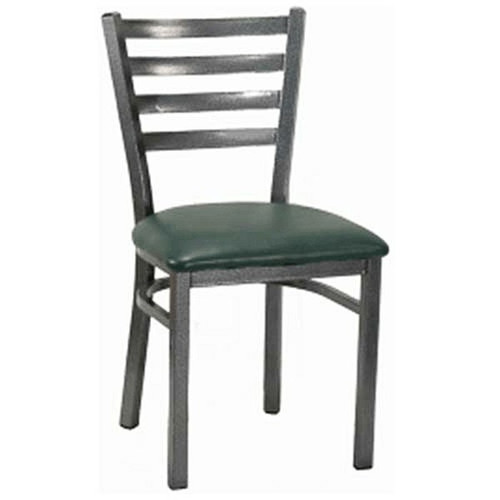 H&D 6147 Metal Chair with Black Vinyl Seat