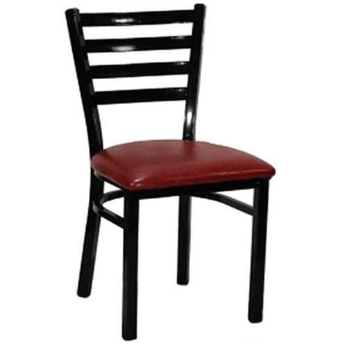 H&D 6145 Metal Dining Chair with Veneer Seat