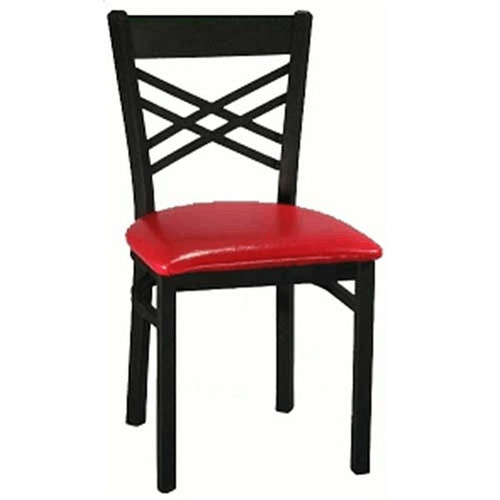 H&D 6159 Metal Wrinkle Back Dining Chair
