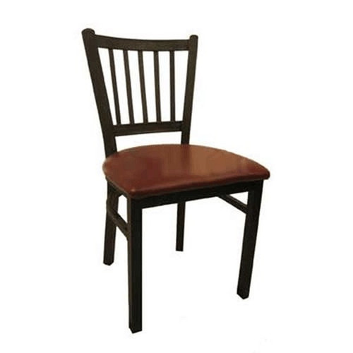 H&D 6199 Metal Dining Wrinkle Back Chair