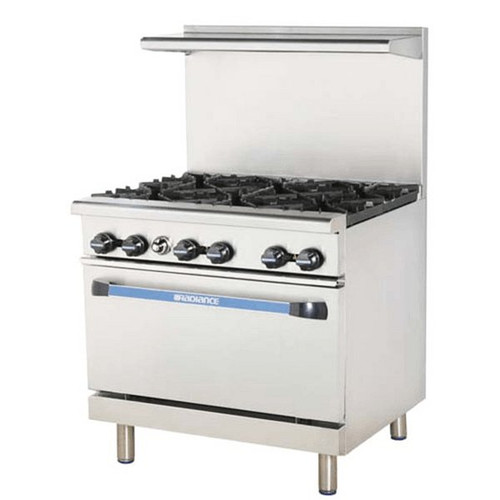 """Turbo Air TAR-6 36"""" Gas Range with Oven"""