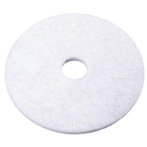 17 Inch White Polishing Pad