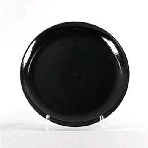 "CaterLine A712PBL25 Serving Tray 12"" Black Round"