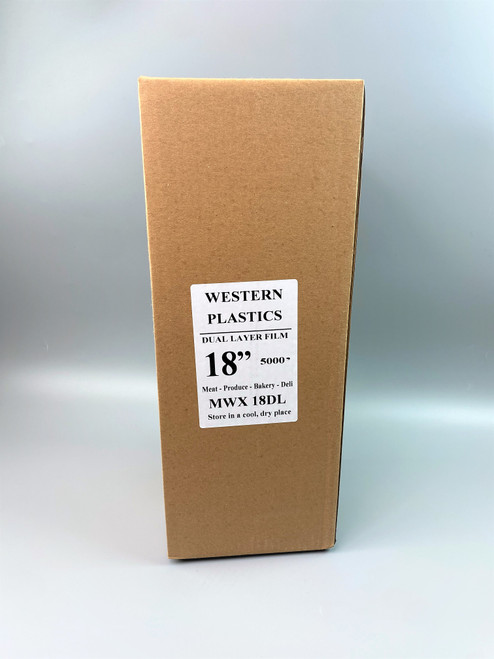 """Western Plastic 182 18"""" X 2000' Food Wrap Film HD"""