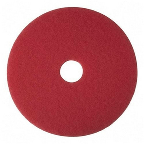 """15"""" RED Buffing Pad 5/cs"""
