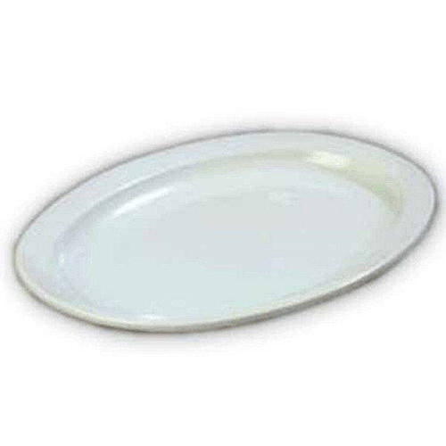 "Admiral Craft MEL-OP14W Oval Platter 13.25"" White"