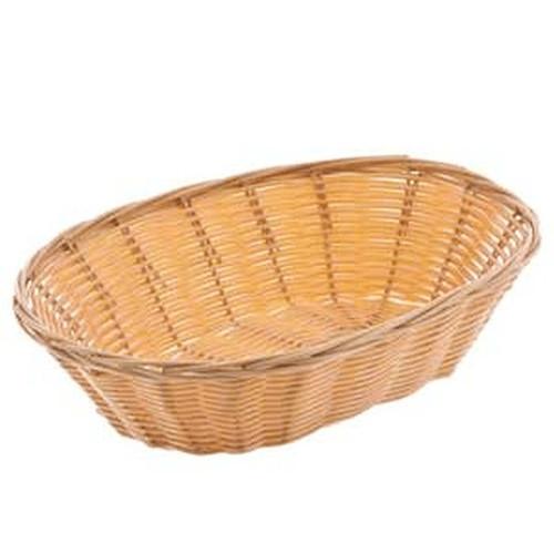 "UPDATE BB-97 9.5"" x 7"" Woven Oval Basket"