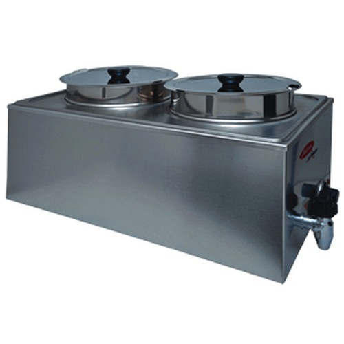 Fleetwood BFW-2B8 Food Warmer DOUBLE BOWL