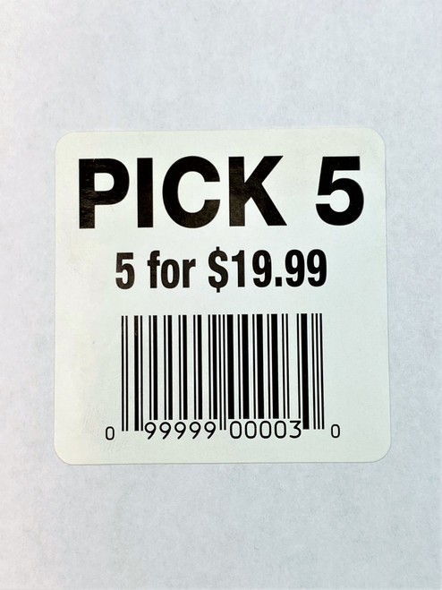 "2 X 2 Inch LABEL "" GIANT PACK"" White"