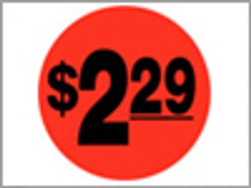 $2.29 Round Label Sticker - Orange