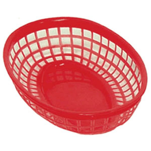 UPDATE BB96R Oval Food Basket 9.5x5 RED 12