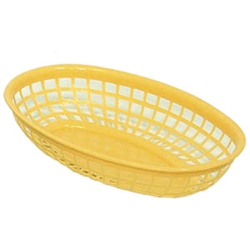 UPDATE BB96Y Oval Food Basket 9x5 YEL 12