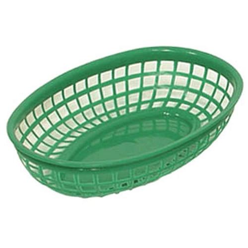 UPDATE BB96G Oval Food Basket 9.5x5 GRN 12