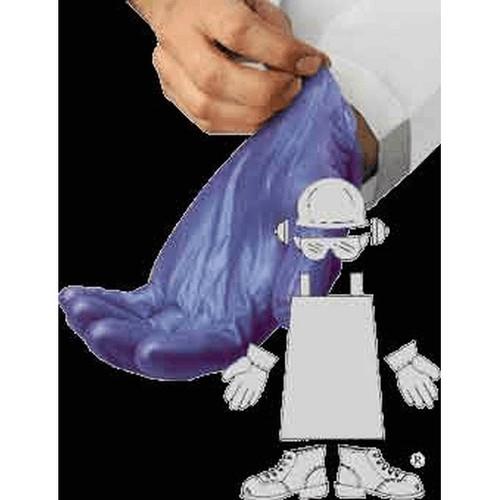 Powdered Blue Vinyl Glove