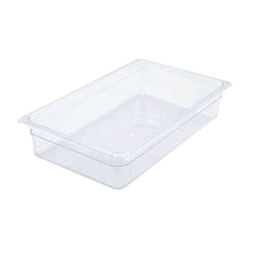 """WINCO SP7104 Full Size Clear Food Pan 4"""" Deep"""