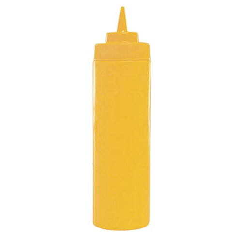 WINCO PSW-24Y 24 Oz Yellow Wide Mouth Squeeze Bottle