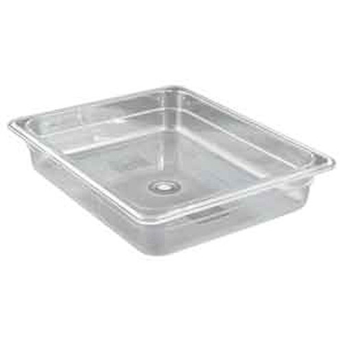 "WINCO SP7202 1/2 Size Clear Food Pan 2"" Deep"