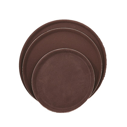 UPDATE GT-1600BR 16 Inch Easy Hold Round Tray, Brown