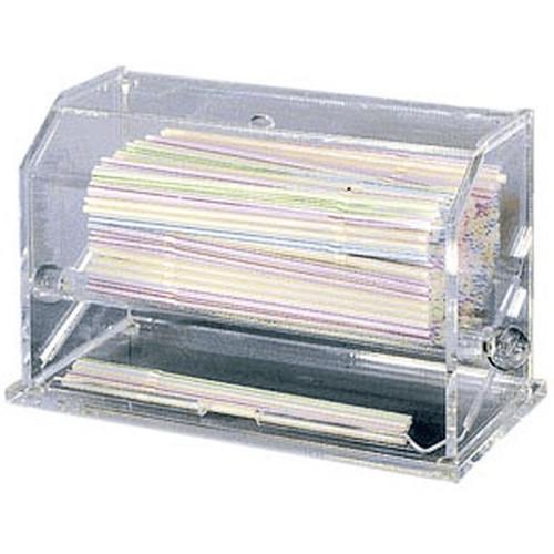 WINCO ACSD-712 Clear Acrylic Straw Dispenser