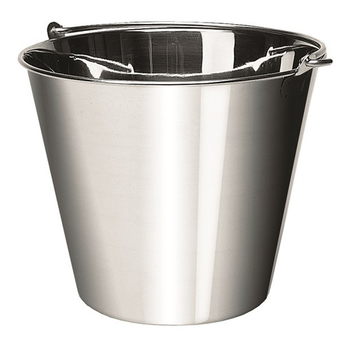 UPDATE UP-13 13 Qt Stainless Steel Utility Pail