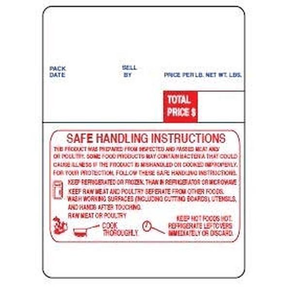 DIGI 60mm X 80mm Scale Label With Safe Handling Print