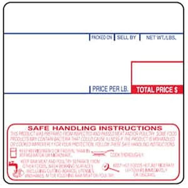 CAS LST-8040 58mm UPC Label And Safe Handling Print