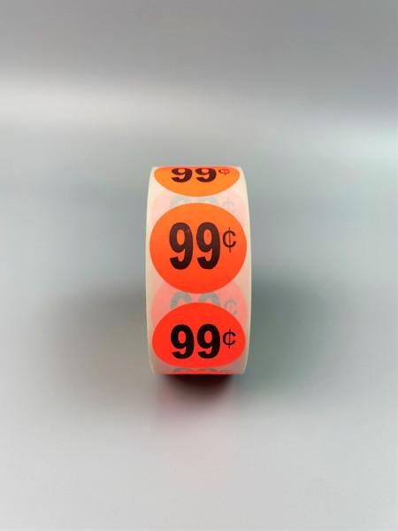 $0.99 Round Label Sticker - Red