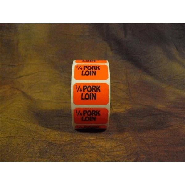 """1/4 PORK LOIN"" Dayglo Promotional Label"