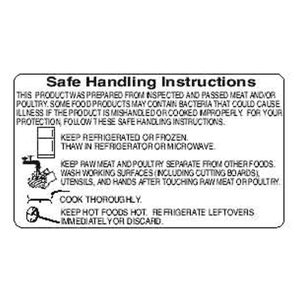 """SAFE HANDLING"" Sticker Label Black Print"