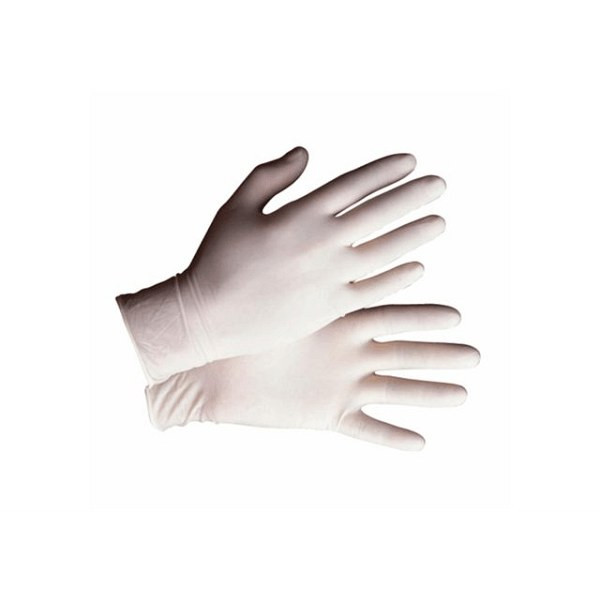 Safety Zone GRDR-MD-1-T Lightly Powdered Latex Glove Medium 5 Mil