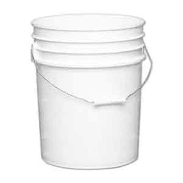 5 Gallon White Plastic Pail With Metal Handle