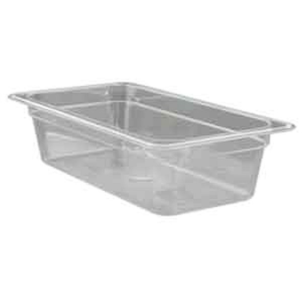 "UPDATE PCP-332 Third Size Food Pans Clear, 2"" Deep"