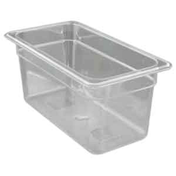 """UPDATE PCP-336 Third Size Food Pans Clear 6"""" Deep"""