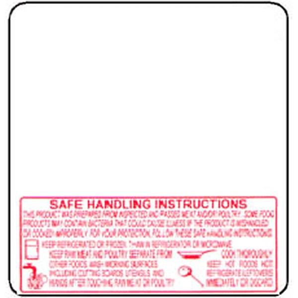 TORREY 1378-BSH 60mm Scale Label Safe Handling Printed