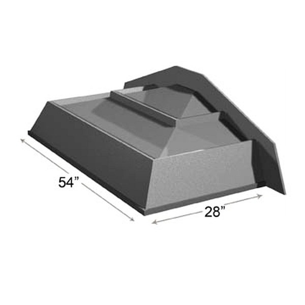 Dry Table End Riser With Slant Front