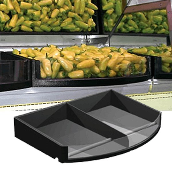 """Produce Tray Curved Front 24"""" x 16"""" x 4"""""""