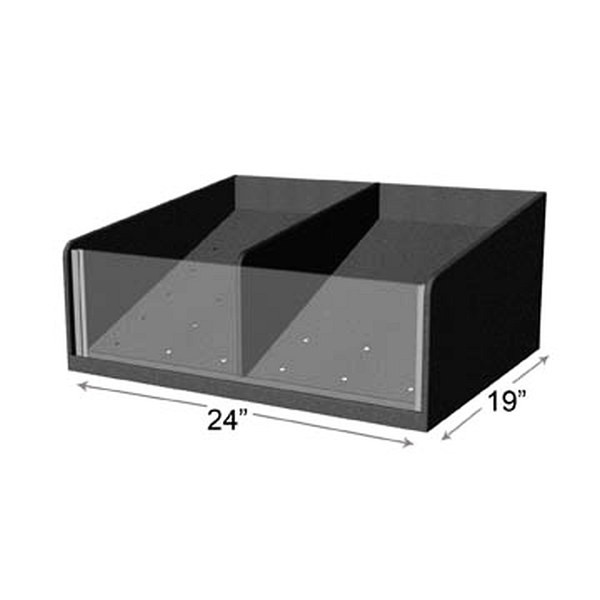 """Produce Tray Clear Front 24"""" x 19"""" x 4"""""""
