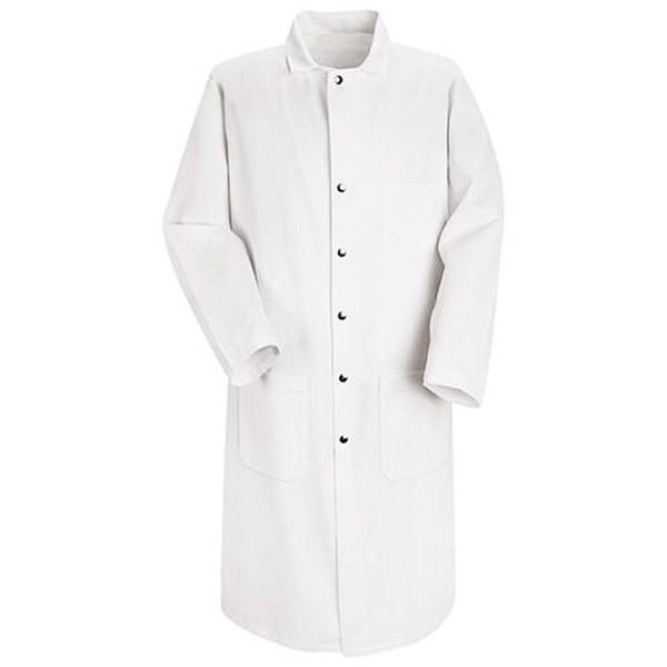 RED KAP KT50WH-M Full-Cut Butcher Coat M