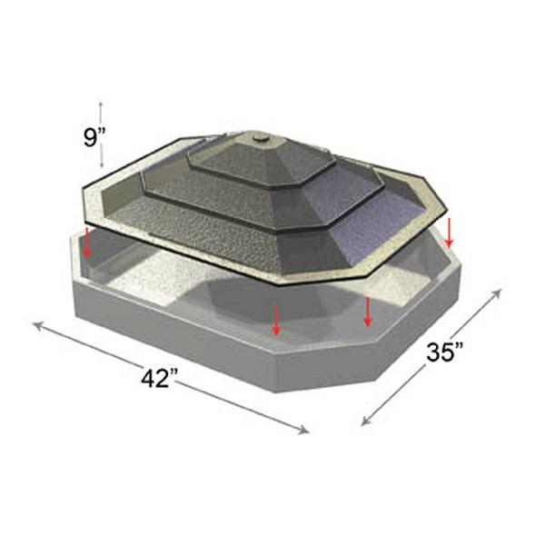 Plastic Black Bin Liner Riser Insert with Slot