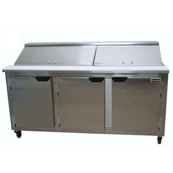 "Cooltech CMPH-72BMB 3-Door Sandwich Prep Table 72"""