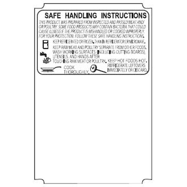 Avery Berkel CX-17 76mm Scale Label Safe Handling Print